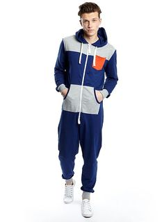 af9730a09d6a Blue   Grey Colour Block Stylish Mens Onesie  49 Stylish Mens Onesies –  Blue   Grey Colour Block Onesie