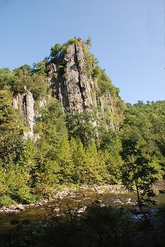 Eagle Rock in the Smoke Hole section of the South Branch of the Potomac River, West Virginia