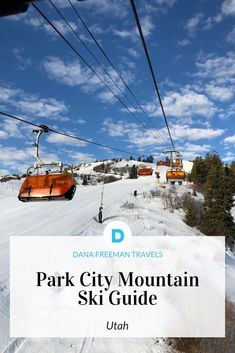 Skiing out West in Park City, Utah Guide to skiing at Park City Mountain. Where to stay, ski, eat and rent ski equipment. Everything you need for your next ski vacation in Utah Park City Utah Skiing, Park City Ski Resort, Ski Park, Park City Mountain, Ski Utah, Travel Tours, Travel Usa, Travel Guides, Travel Destinations