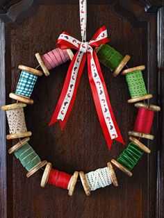Loving this but would change the colours for a chabby chic wreath instead of Christmassy- Tesco Magazine
