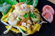 Salade thaï de crevettes à la mangue