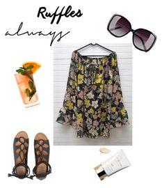 """Ruffles..always!"" by explorer-14475809374 on Polyvore featuring Billabong, Clé de Peau Beauté, Love Moschino e Fresca"