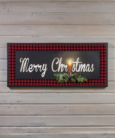 Another great find on #zulily! 'Merry Christmas' Candle LED Light-Up Canvas #zulilyfinds