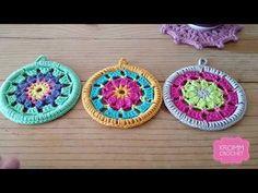 Crochet Mandala Pattern, Crochet Squares, Crochet Granny, Crochet Doilies, Crochet Flowers, Knit Crochet, Crochet Patterns, Zen Doodle Patterns, Doodle Borders