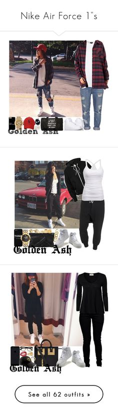 """Nike Air Force 1""s"" by fashionsetstyler ❤ liked on Polyvore featuring Standard Jean Co, Topshop, Fendi, Polo Ralph Lauren, Wet Seal, Acne Studios, DRKSHDW, American Eagle Outfitters, NIKE and Vlieger & Vandam"
