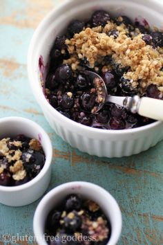 Gluten-Free Blueberry Crumble-Crisp Recipe