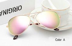 Classic Sunglasses Women & Men Driving Mirror Pilot Sun Glasses