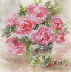 """Daily Paintworks - """"Glory Days"""" - Original Fine Art for Sale - © Sue Dion Watercolor Flowers, Watercolour, Fine Art Auctions, Fine Art Gallery, Art For Sale, Decoupage, Illustration Art, Day, Cards"""