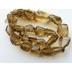 Beer Quartz Beads AAA Gems Faceted Nugget Beads by gemsforjewels