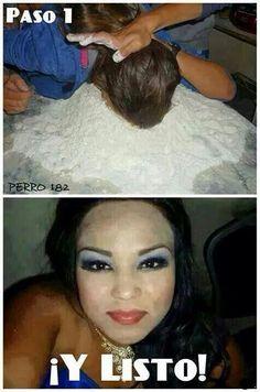 Jajajaja las que exageran en el maquillaje #compartirvideos #watsappss #imagenesdivertidas