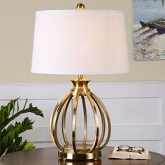 Shop Uttermost  26167 Decimus Brass Table Lamp at The Mine. Browse our table lamps, all with free shipping and best price guaranteed.