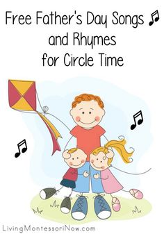 Free Father's Day Songs and Rhymes for Circle Time Preschool Songs, Preschool Themes, Preschool Lessons, Homeschool Kindergarten, Preschool Projects, Songs For Toddlers, Lesson Plans For Toddlers, Kids Songs, Fathers Day Songs