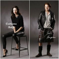 Caitriona Balfe and Sam Heughan