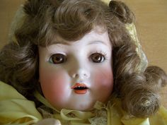 Tall Doll Antique Bruno Schmidt Girl  Custom Outfit Open Mouth Teeth 21""
