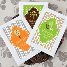 Fall brings with it beautiful contrasting colors and crisp morning air. Invite your guests to enjoy this ideal season for planting by giving them our Fall for Love Personalized Wildflower Seed Favors....