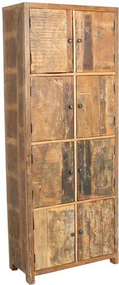 Kast Factory - 8 deur - Gerecycled hout - One World Interiors