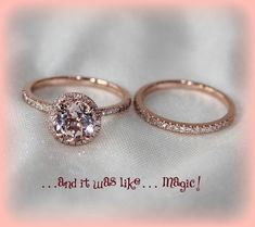 1.15ct Round Morganite Vintage Engagement Ring by ItWasLikeMagic, $1260.00  upgrade one day!