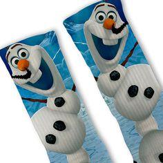 Olaf Frozen Customized Nike Elite Socks by FreshElites on Etsy Nike Shoes Cheap, Nike Free Shoes, Nike Shoes Outlet, Running Shoes Nike, Cheap Nike, Nike Elite Socks, Nike Socks, Crazy Socks, Cool Socks