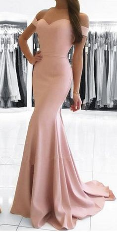 Prom Dresses 2018 pearl pink mermaid prom dresses,elegant long prom dress,elegant formal evening dress,off the shoulder party dress Formal Dresses Uk, Prom Dresses 2018, Cheap Prom Dresses, Simple Dresses, Sexy Dresses, Party Dresses, Pink Dresses, Dress Prom, Long Elegant Dresses