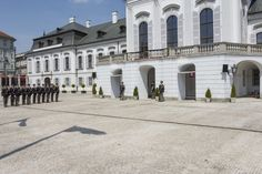 Guards at the Presidential Palace in Bratislava Cambridge School, Bratislava Slovakia, Exploring, Palace, Mansions, Architecture, World, House Styles, Travel