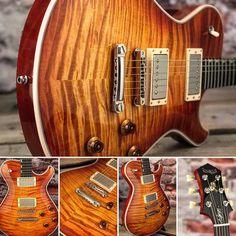 In Stock - @knaggsguitars SSC in Vintage Burst with a Beautiful T1 Flame Maple Top! #itsahighendguitarthing #singlecut #boutiqueguitars #guitar