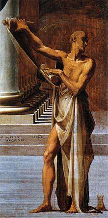 Parmigianino - Madonna dal collo lungo  -1534-1540 - dettaglio: Girolamo Francesco Maria Mazzola - Firenze - Galleria degli Uffizi