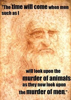 Leonardo da Vinci – whose birthday would've been today (15th April) – was a vegetarian and one of many famous thinkers throughout history who understood the message of compassion! www.peta.org.uk