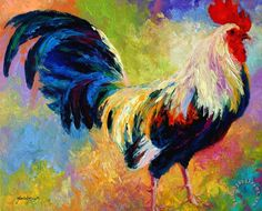 Marion Rose Eye Candy - Rooster painting - Eye Candy - Rooster print for sale