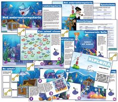speurtocht onderwater Speurtocht: het onderwatermysterie #speurtocht #kinderfeestje