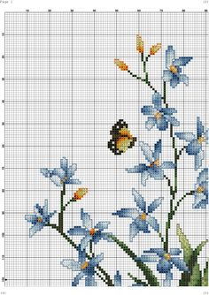 Cross Stitching, Cross Stitch Embroidery, Embroidery Patterns, Hand Embroidery, Cross Stitch Patterns, Butterfly Cross Stitch, Cross Stitch Flowers, Crochet Owls, Cross Paintings