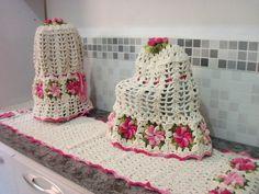 Jogo de cozinha Flores - 5 peças