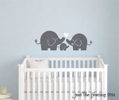 Elephant Family Wall Decal, Nursery Elephant Decal by Just The Frosting Vinyl Decor