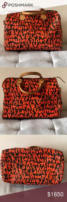 f8b217d18fef Louis Vuitton Stephen Sprouse Graffiti Speedy 30 Limited Edition SS Speedy  30 Monogram canvas with iconic