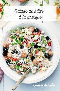 Découvrez vite cette recette. Cooking Ideas, Pasta Salad, Nutrition, Diet, Ethnic Recipes, Food, Cup Cakes, Cooking Recipes, Cucumber