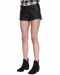 Blank | Bum Chum Vegan Leather Textured Shorts - CUSP