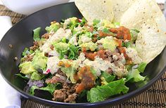 Taco Salad....this recipe is really good cause she tells you how to make everything yourself incl the seasoning, no store bought full of sodium and preservatives!