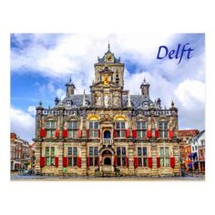 Delft Netherlands travel photo Postcard - travel photos wanderlust traveling pictures photo