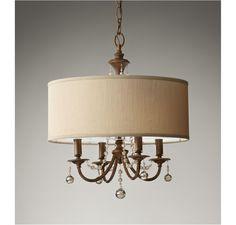 Feiss Clarissa 4-Light Chandelier in Ceiling Lights, Chandeliers, Indoor Chandeliers: ProgressiveLighting.com
