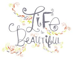 Life is Beautiful Wall Art Print by elissahudson on Etsy, $22.00