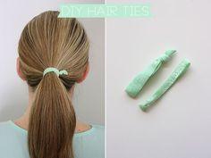DIY: Glitter Hair Ties✨