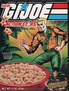 G.I. Joe Action Stars cereal. Go, Joe!.. uh, where are the marshmallows? #80s