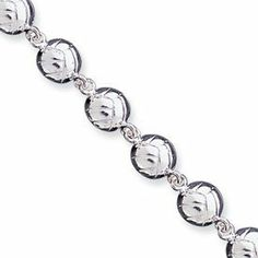 Genuine IceCarats Designer Jewelry Gift Sterling Silver Volleyballs Bracelet In 7.00 Inch IceCarats. $74.00. Sterling Silver. Genuine IceCarats Designer Jewelry Gift. 30 day money back guarantee. Solid Casted Polished Open back Lobster Sterling silver. Weight 15.71 grams