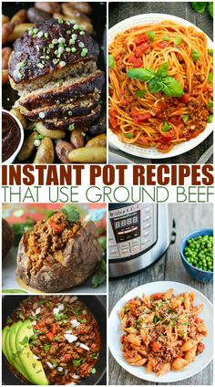 Instant Pot Recipes That Use Ground Beef. With A Pound Of Hamburger Meat You Can Make Quick, Delicious Dinners In A Flash With An Instant Pot Pressure Cooker. On the off chance that You Have Ground Beef, Youve Got Dinner. Best Instant Pot Recipe, Instant Pot Dinner Recipes, Instant Recipes, Healthy Meat Recipes, Salad Recipes, Crockpot Recipes, Delicious Recipes, Quick Recipes, Instant Pot Pressure Cooker