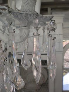 My Shabby Streamside Studio: crystal chandelier