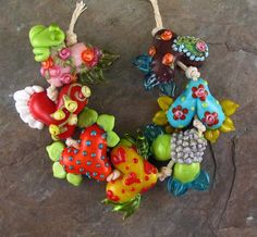 "Wowza - she makes amazing beads! ""Hippy Chick"" by flamekeeper on Etsy"