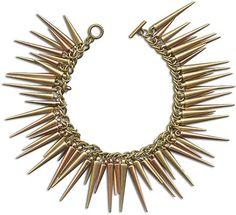 Shimmery Spikes Bracelet