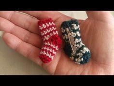 ミニチュアくつ下の編み方How to crochet miniature socks by meetang - YouTube