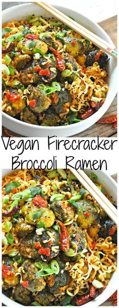 Vegan Firecracker Broccoli Ramen - Rabbit and Wolves