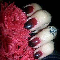 Degrade rojo y negro