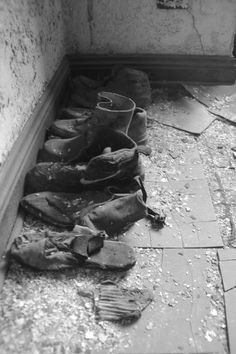 The shoes that didn't fit. Michigan Central Depot Train Station.